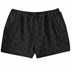 First Impressions Girl's Black Eyelet Shorts 18 M